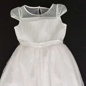 Us Angels Girls 10 Dress Point d'Esprit Communion